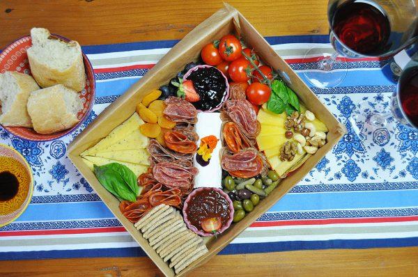 The Sharer Platter Dinner and Wine